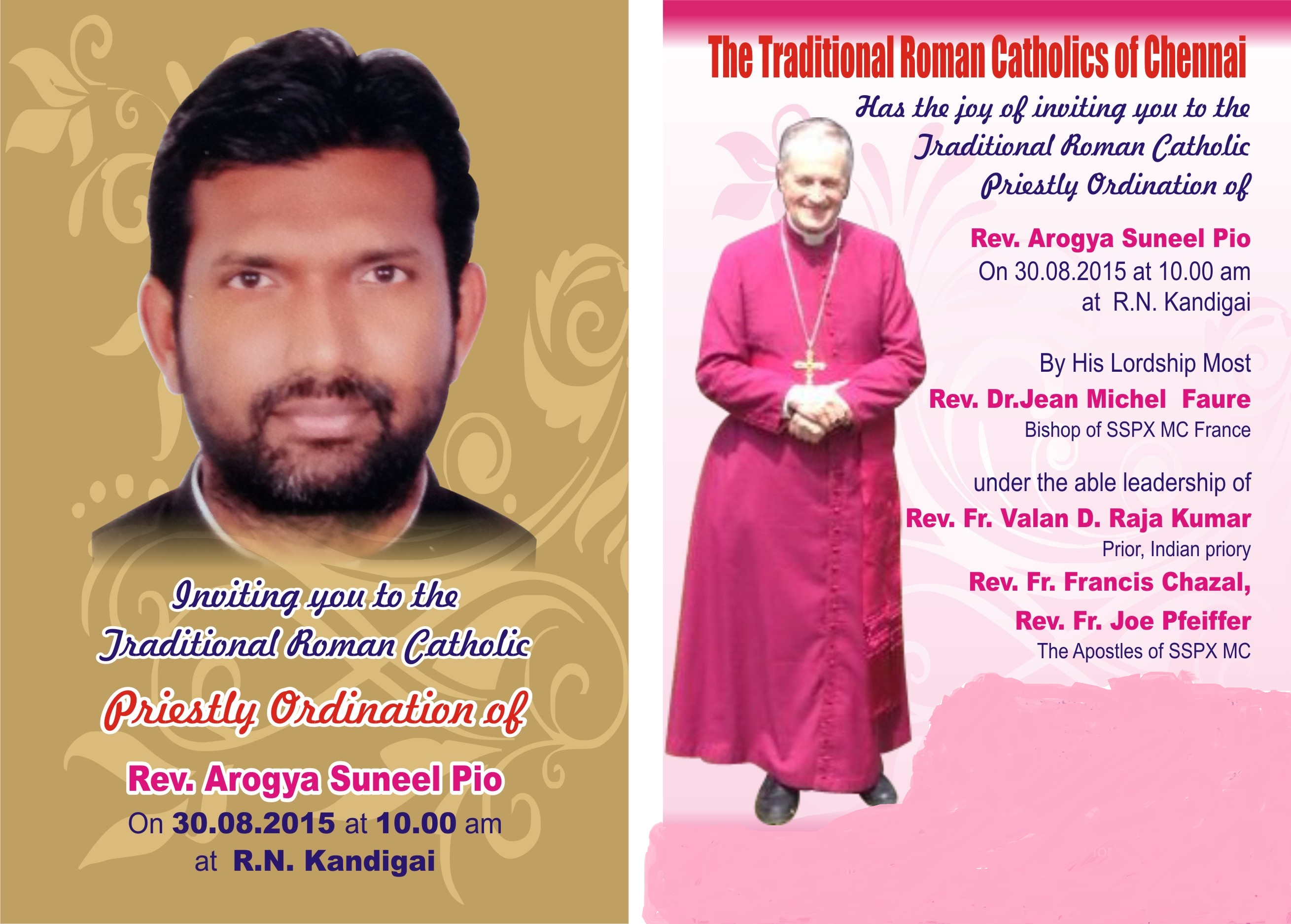 Rev Arogya Suneel Pio Invitation final1